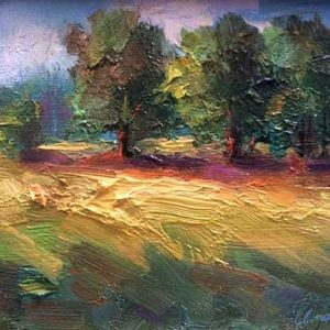 Three Trees Landscape Oil Painting