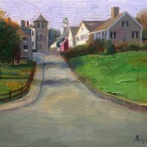 Painting of Layden St in Plymouth MA