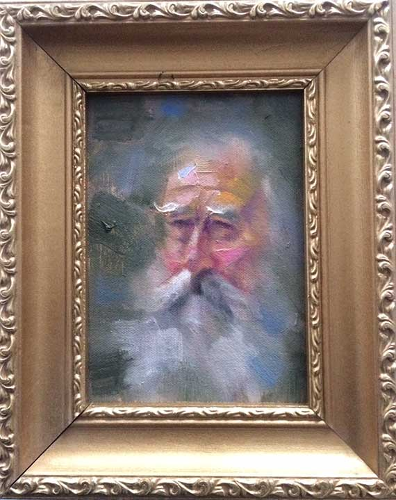 Old Man Painting Framed