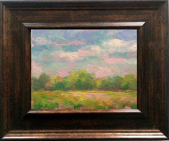 soft morning clouds framed