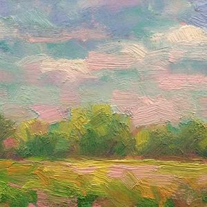 soft morning clouds oil on panel