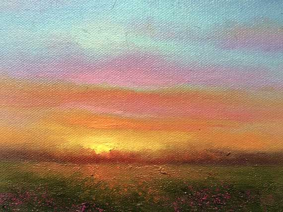 Sun Pasture Oil Painting