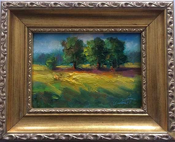 Three Trees Framed Painting