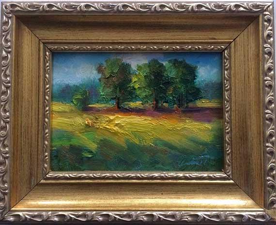 Three Trees Framed Painting