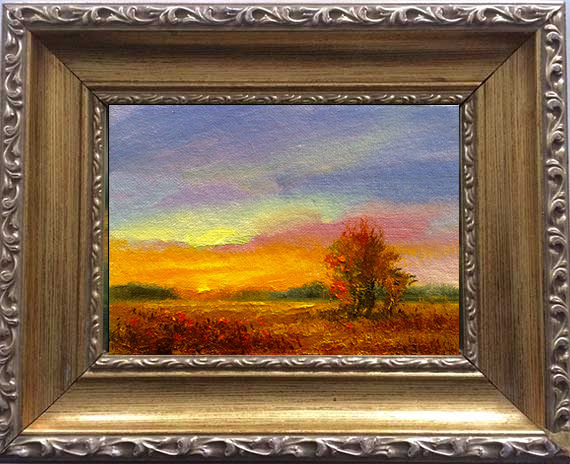 Clay Road Sunset Framed