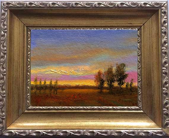 Easy Evening Framed Digitally