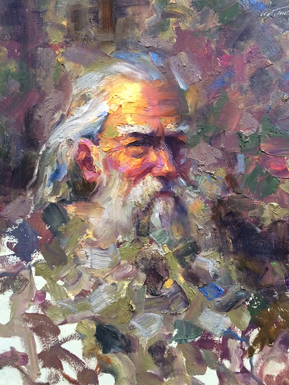 Impasto Old Man Study