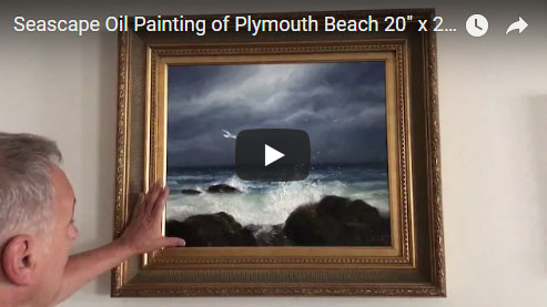 Plymouth Seascape Storm Painting