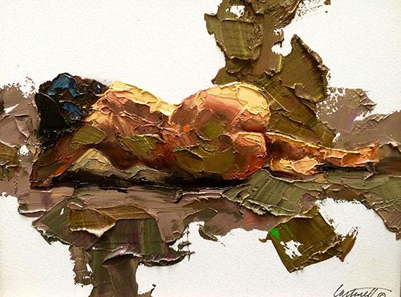 Thick Impasto Nude Painting