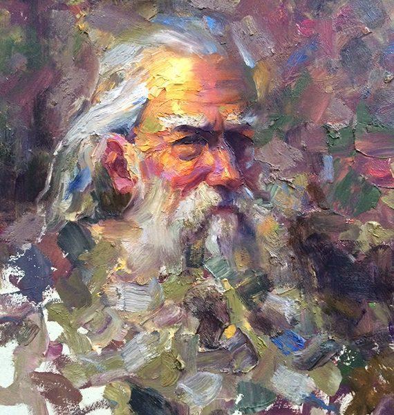 impasto old man study giclee