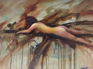 Nude Abstract Oil Painting