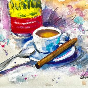 Cuban Coffee Painting