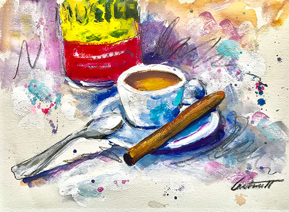 Cuban Coffee Painting