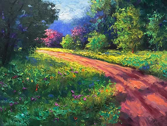 kemper county clay road oil painting