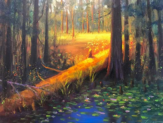 Swamp Oil Painting