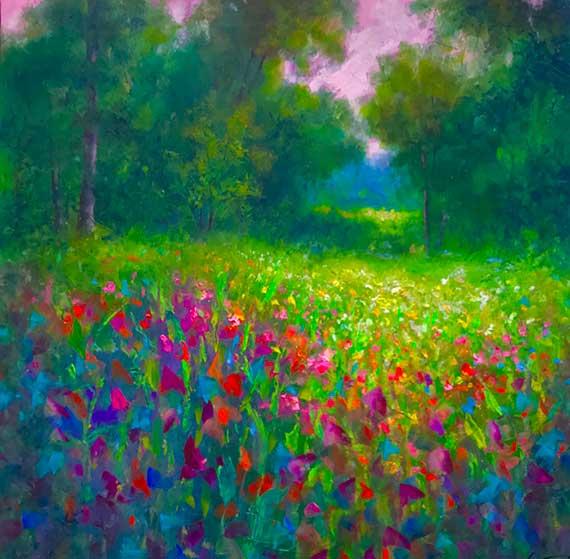 wildflower oil painting