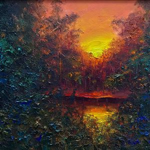 Sunset Oil Painting 76