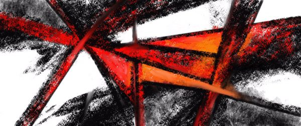 Red And Black Abstract Art