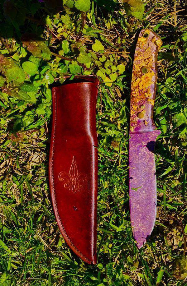 NOLA Knife Purple & Gold