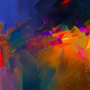 Chromatics Mixed Media Painting