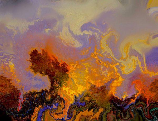 california dreamin abstract art